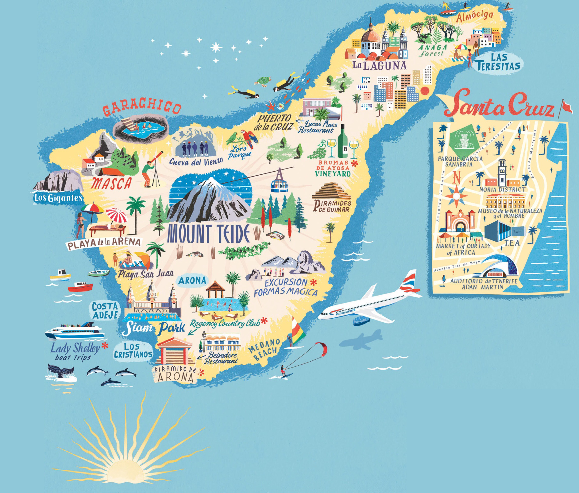 Tenerife Map: Places of Interest
